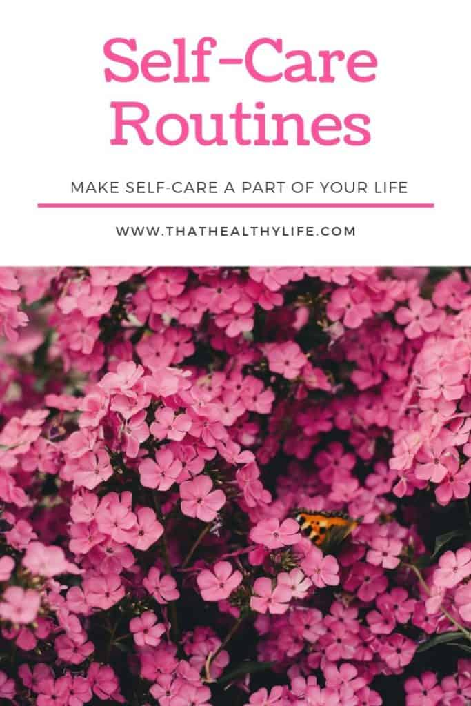 self care routines pinterest cover image.