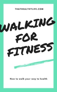"""""""Walking for fitness"""" e-book cover."""